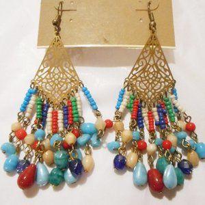 CAROLE, INC. Long Dangle SOUTHWEST Style Earrings